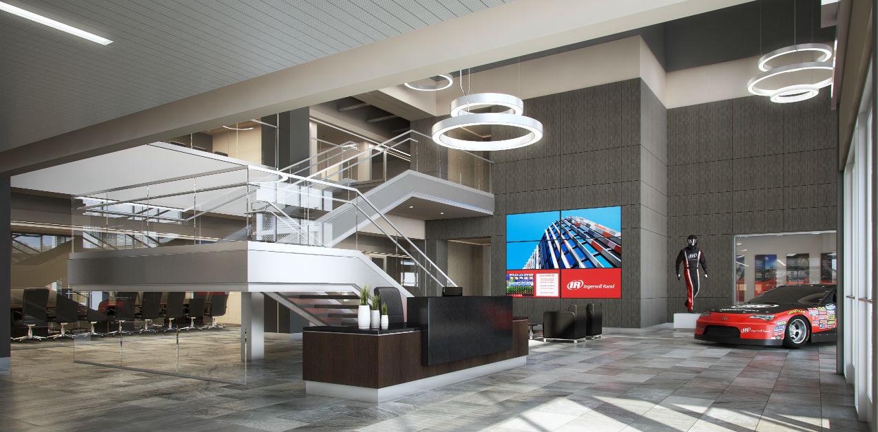 ingersoll rand headquarters. *renderings provided by redline design group ingersoll rand headquarters t